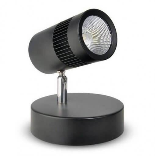 Spot de Sobrepor LED 10W Direcionável Canopla Preto Luz 3000K Initial