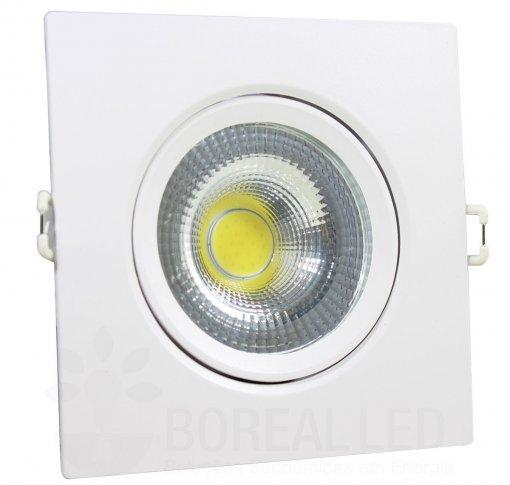 Spot LED COB Embutir 7W Quadrado Branco Frio