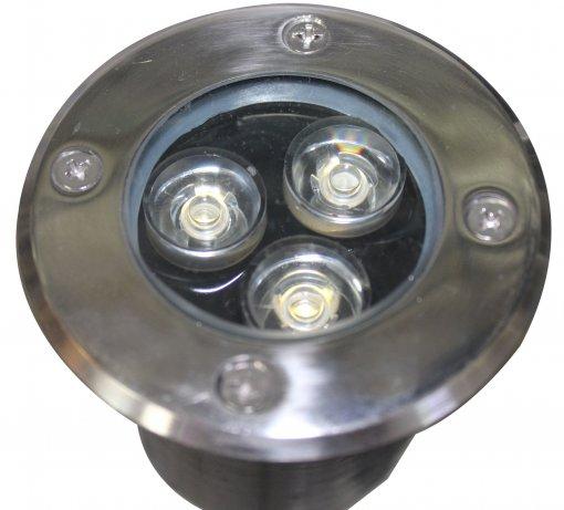 Spot LED Embutir Solo 3w Bivolt Quente 3000k IP 65 A.XU