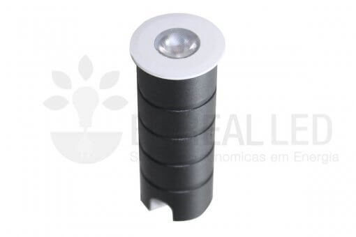 Spot LED Embutir Solo Piso 1w 70lm IP67 Bivolt Initial