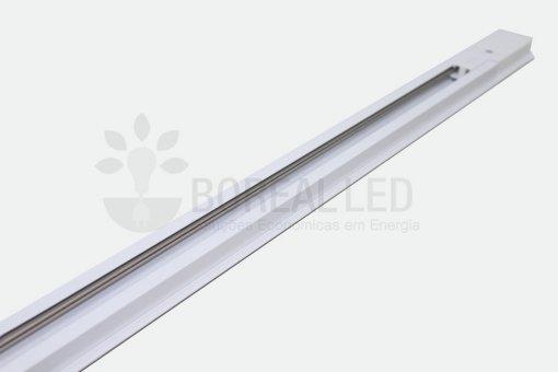 Trilho Eletrificado para Spot LED 1 Metro Bivolt Branco