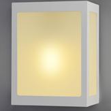 Imagem - Arandela Aluminio Trapezio C/Vidro P/ 1 Lâmpada E27 Ideal Iluminação 281 cód: 281