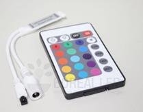 Imagem - Controladora Slim e Controle Remoto p/ Fita LED RGB 3528 5050 12V cód: CTR-RGB-SLIM