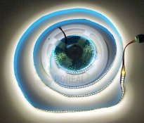 Imagem - Fita LED 2835 240 LEDS/m Branco Frio 6500K 5 Metros IP20 12V cód: FITA-2835-240LEDSBFIP20