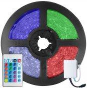 Imagem - Fita LED 5050 RGB Colorida 300 Leds 5 Metros 12V IP65 + Controle Remoto cód: FITA-5050-RGB