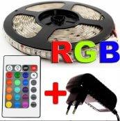 Imagem - Fita LED 5m Ultra RGB 3528 Prova D,agua + Controle + Fonte Colorida cód: BFL-3528RGB