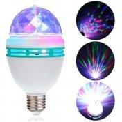 Imagem - Lâmpada LED Giratória RGB Colorida E27 + Adaptador E27 Tomada cód: YTL-0779