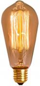 Imagem - Lâmpada Vintage Filamento Carbono ST58 40W Dimerizável Luz 2200K 220V cód: FC-ST58-220V