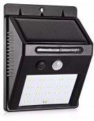 Imagem - Luminária Arandela Solar Parede 20 LEDS C/ Sensor de Presença IP65 cód: HBT-1513