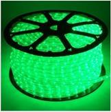 Imagem - Mangueira LED Rolo 100 Metros Verde 24 LEDS/m 11mm cód: MANG-100M-VD