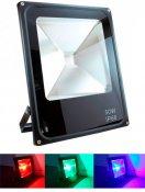 Imagem - Refletor Holofote LED RGB 50W IP66 com Controle Remoto cód: R50WRGB