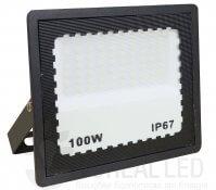 Imagem - Refletor LED 100W Holofote Bivolt Branco Frio IP67 Externo 10.000 lúmens cód: BRI-100WLEDBF