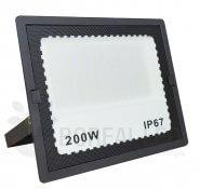 Imagem - Refletor LED 200W Holofote Bivolt Branco Frio IP67 Externo 20.000 lúmens cód: BRI-200WLEDBF