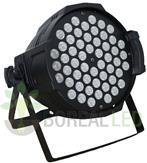 Imagem - Refletor LED PAR 64 RGBW 54 LEDS 3W Potencia Real DMX Strobo Bivolt cód: SOG-543