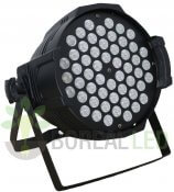 Imagem - Refletor LED PAR 64 RGBWY 54 LEDS 1W DMX Strobo Bivolt cód: S-545