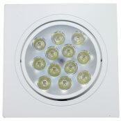 Imagem - Spot de Embutir LED 12W Quadrado Borda Branca Bivolt Power XL cód: SP-12W-QD-BQ