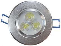 Imagem - Spot de Embutir LED 3W Redondo Borda Prateada Bivolt cód: 1433QA
