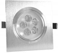 Imagem - Spot Embutir LED 5W Quadrado Borda Prata Prateado Luz Amarela cód: DS-2889BQ