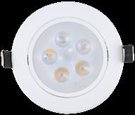 Imagem - Spot de Embutir LED 5W Redondo Borda Branca Direcionavel cód: 1455QB