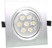 Imagem - Spot de Embutir LED 7W Quadrado Borda Prata Prateado Bivolt cód: DS-2893