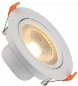 Imagem - Spot Downlight LED 3W Embutir Redondo Direcionável Branco Quente cód: BLDS-3CS-BQ-R