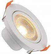 Imagem - Spot Downlight LED 5W Embutir Redondo Direcionável Branco Quente cód: BLDS-5CS-BQ-R