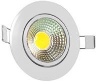 Imagem - Spot LED COB Redondo 3W 8,3X8,3cm Direcionável Branco Quente A.XU cód: XS373WRDBQ