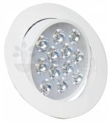 Imagem - Spot LED Embutir 12W Redondo Direcionável Luz Branco Quente cód: B.THD-12W-Y-WW