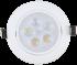 Spot de Embutir LED 5W Redondo Borda Branca Direcionavel