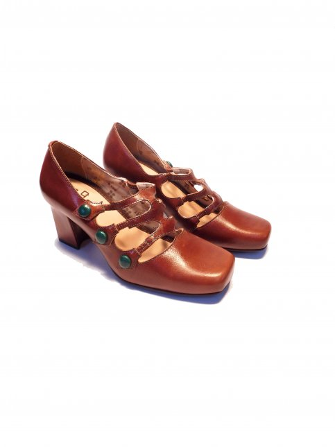 Sapato Retrô Couro Mazuque 6010