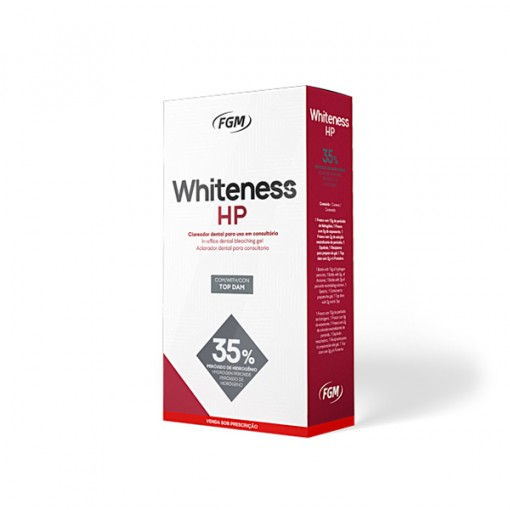 CLAREADOR WHITENESS HP 35% KIT 03 PACIENTES COM TOP DAM -  FGM (01 KIT)