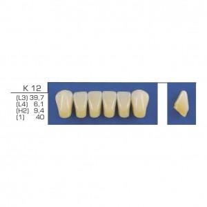 Imagem - DENTE TRILUX ANTERIOR INFERIOR K10 COR 1A - VIPI (C/ 01 PLACA)