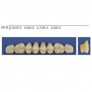 Imagem - DENTE TRILUX POSTERIOR INFERIOR M6 COR 4A - VIPI (C/ 01 PLACA)