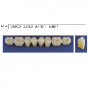 Imagem - DENTE TRILUX POSTERIOR INFERIOR M4 COR 4A - VIPI (C/ 01 PLACA)