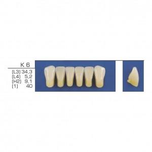 Imagem - DENTE TRILUX ANTERIOR INFERIOR K6 COR 1A - VIPI (C/ 01 PLACA)