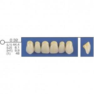 Imagem - DENTE TRILUX ANTERIOR SUPERIOR O32 COR 2A - VIPI (C/ 01 PLACA)