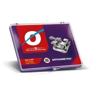 Imagem - KIT DE BRAQUETES ROTH ADVANCED ORTHOMETRIC 10 CASOS  C/ SLOT 0,022
