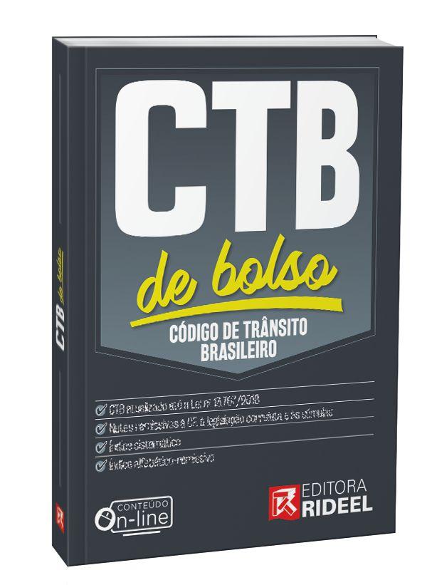 Imagem - Código de Trânsito Brasileiro - CTB de Bolso - 1ª edição cód: 9788533958395
