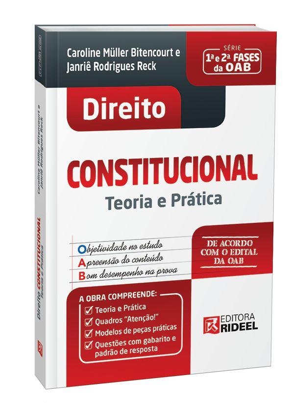 Imagem - Direito Constitucional - Teoria e Prática - 1ª edição  cód: 9788533957039
