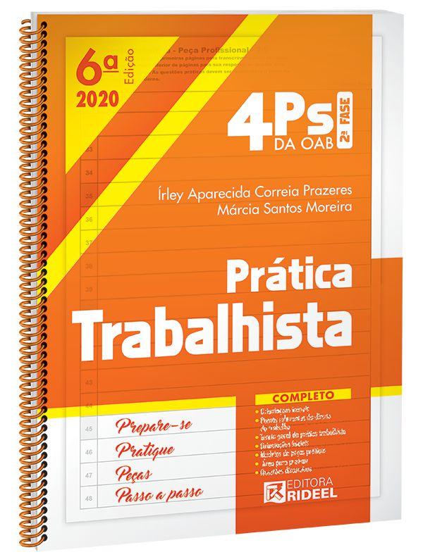 Imagem - 4Ps da OAB - Prática Trabalhista - 6ª edição cód: 9788533958876