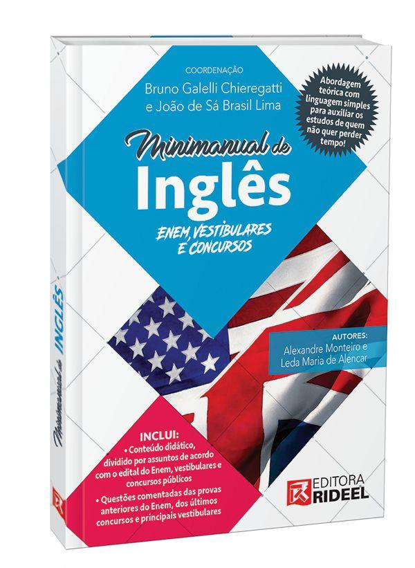Imagem - Minimanual de Ingles - Enem, vestibulares e concursos - 1ª edição cód: 9788533952973