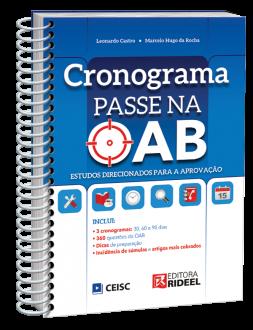 Imagem - Cronograma Passe na OAB - 1ª edição cód: 9788533958272