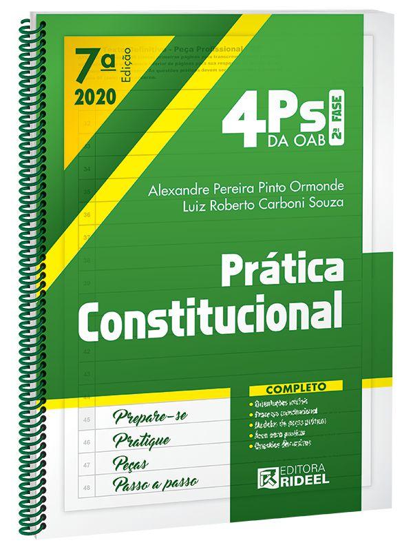 Imagem - 4Ps da OAB - Prática Constitucional - 7ª edição cód: 9788533958869