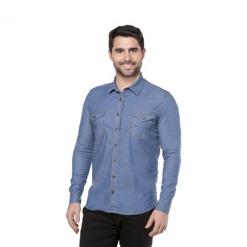 Camisa Jeans Slim