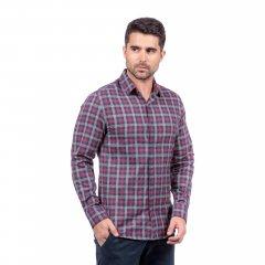 Imagem - Camisa de Flanela Xadrez Slim Ref 80465 Bordô cód: 78321538