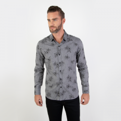 Imagem - Camisa Masculina Slim Estampada cód: 74051074