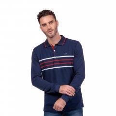 Imagem - Camisa Polo Listrada Fio tinto Marinho cód: 78082536