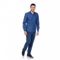 Imagem - Camisa Slim Ref 5300 Jeans cód: 782501305