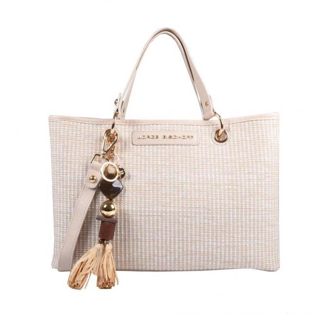Bolsa em Ráfia com Bag Charm V21