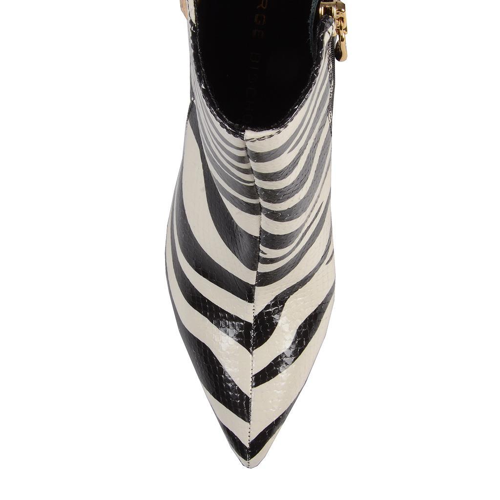 Bota cano curto Zebra P&B I19 2